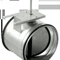 Воздушные клапаны для круглых воздуховодов с площадкой под привод SKG
