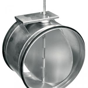 Воздушные клапаны для круглых воздуховодов с площадкой под привод SKM